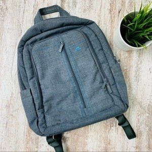 RIVACASE Gray Laptop Backpack NEW NWOT